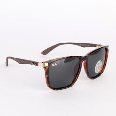 Ray-Ban Polarized Brown Crested Sunglasses