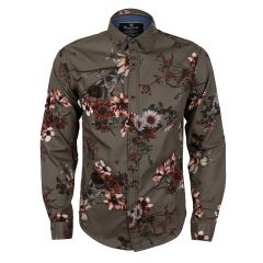 Bajieli Finest Quality Green Flowered Designed Shirt