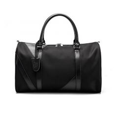 Oxford Executive Black Leather Travel Bag