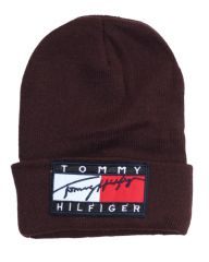 Tommy Hilfiger Sport Knit Cuffed Beanie Chocolate Brown