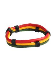 Gradient Style Ghana National Flag Hand Woven Bracelet