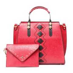 Fashionable Women Designer Leather 2 IN 1 Red Bag