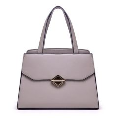 Avalynn Satchel Women Fashion Leather Bag - Grey