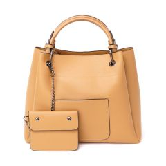 Prolific Colourful  3 in 1 Genuine Leather Women Khaki Handbags
