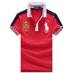 RL Custom Fit 1996 Black Watch Team - Red Polo