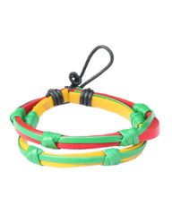 Surfer Hemp Handmade  Multi Colored Leather Bracelet