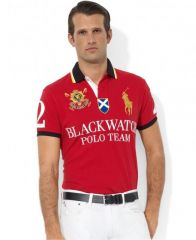 PRL Black Watch 1996 Red Lauren Shorts Polo