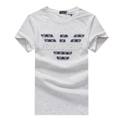 Armani Jeans Men's Regular-Fit Cotton T-shirt- OffWhite
