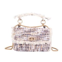 Boho Rug Sling Leather Cream Multicolored Handbag