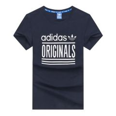Adidas Originals 3 Stripes  T-shirt-Navy blue