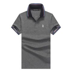 Emporio Armani Polo Shirts  Men's Logo Embroidered-Ash