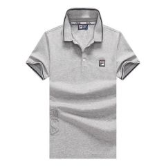 Fila Striped Trim Polo Shirt-Ash