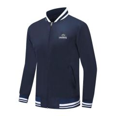 Lacoste Men's Concept Collaboration Lightweight Zip-up Jacket- Navy Blue