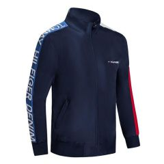 Tommy Jeans Branded Hand Logo Tracksuit Jacket- Navy-blue