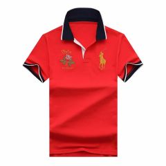 Prl Crest-embellished Polo Shirt - Red
