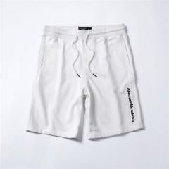 Abercrombie And Fitch Logo Embroidery Organic Cotton Shorts-White