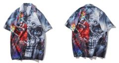 Short Sleeves Skullie X Lion Casual Men's Hawaiian Shirt