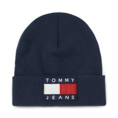 Tommy Hilfiger - TJ 90s Flag Beanie Peacoat Navyblue