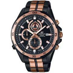 Casio Edifice Men's Black & Rose Gold Stainless Steel Watch