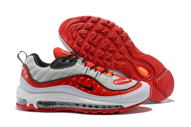 N A M 98 White Red Black  Men's Running Shoes