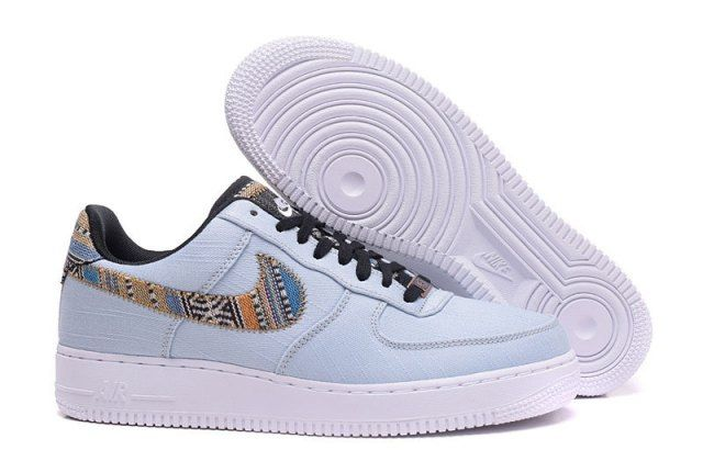 N A F 1 Low Afro Punk Denim Armory Blue  Men's Casual Shoes Sneakers