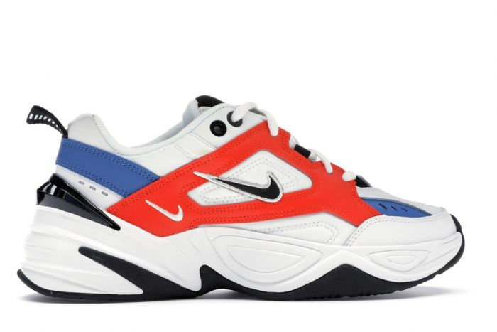 M2K Tekno Men's Running Shoe White Black Orange