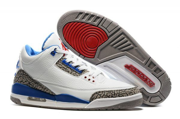 Air Jordan 3 Retro True Blue/White Sneakers