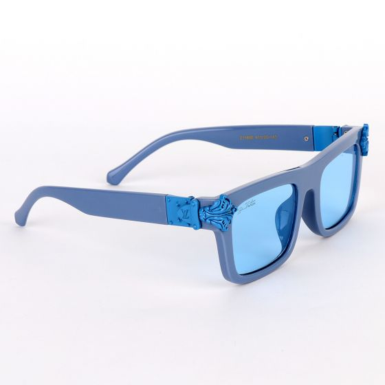 Louis Vuitton Square Blue Crested Sunglasses