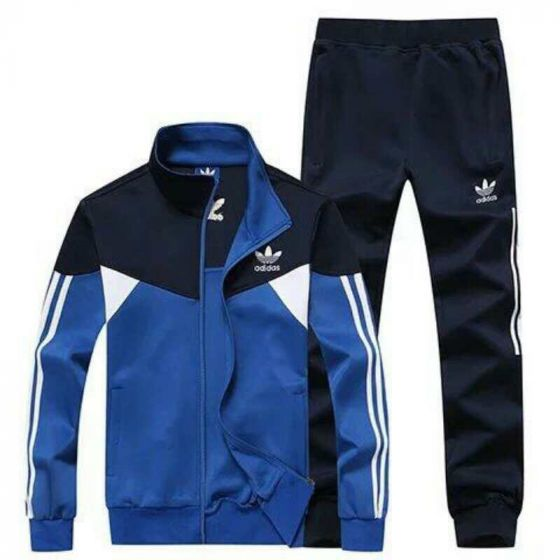 Adidas Tracksuit Crested Logo Navyblue Dual Color - Royal Blue