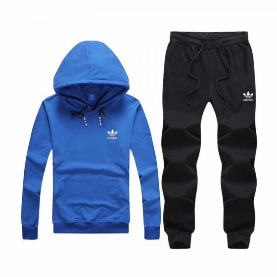Adidas Originals Superstar Trefoil Hoodie Track Suit Blue Black