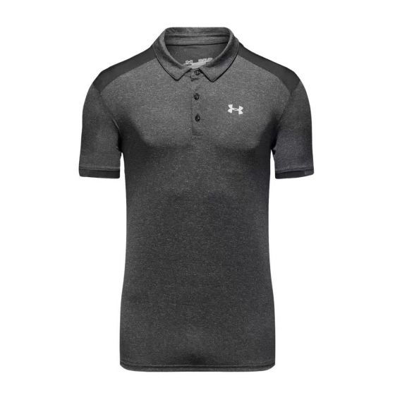 Under Armour Men Fitted Polo Shirt Black/grey