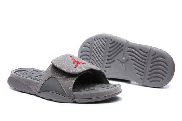 Air Jordan 4 Cool Grey Glow in Dark AJ4  Men's Slides Sandals Flip Flop