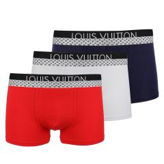 LV Paris Executive Embroidered Men's 3 In 1 Boxers