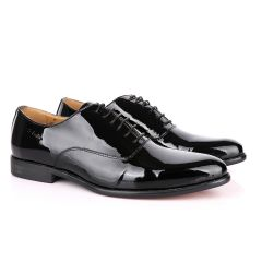 John Foster Black Patent Lace Up Wetlips Shoe