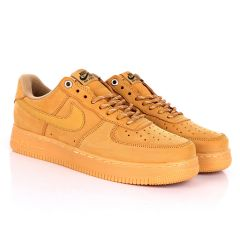 NK Force 1 Flat/Wheat-Gum Light Brown Sneakers