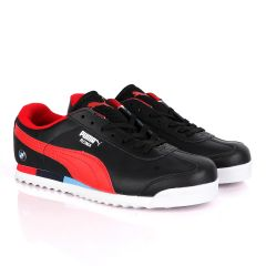 Puma Roma BMW Motor Sport Black Red Sneakers
