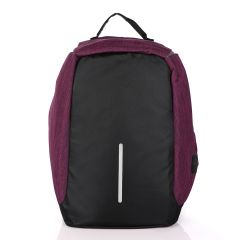 Smart portable Travel Backpack with USB port - Purple