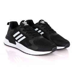 AD X_PLR Brand 3 White Stripes Black Sneakers