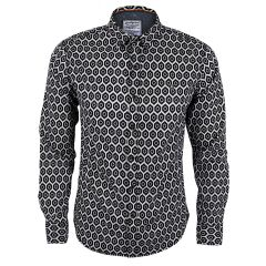 Flowery Design Vintage Long Sleeve Men's Shirt.