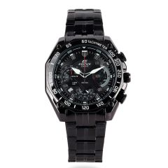 Casio Edifice Chronograph Men's Black steel Watch