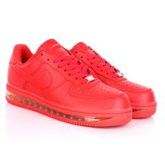 NK Force 1 Translucent Panel Designed Sneakers- Red