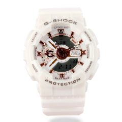 G-Shock Resin-Strap Ana-Digi White Watch