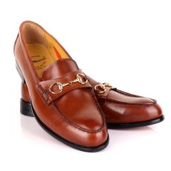 John Mendson Smooth Leather Brown Loafers