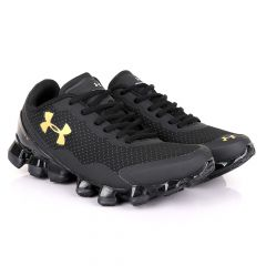 Under Armour Scorpio 3 Black with Gold Crest Sneaker