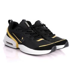 NK Max Tavas Se Black With Classic Gold Design Sneakers