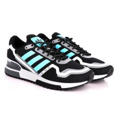 Adidas ZX 750 HD Black And Sky Blue Sneakers