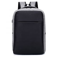 Quality Multipurpose BackPack With Breathable Back And USB Charging Port- Black/Ash