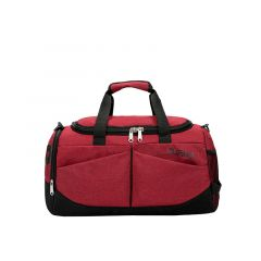 Vintage Multi-Dimensional Travel Bag- Red