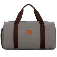 Buffalo Vintage Large Capacity Duffle Bag- Grey