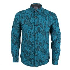 Badgley Rich Closet Trendy Blue Long Sleeve Shirt